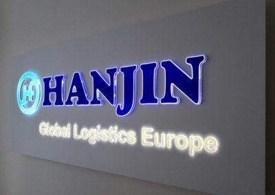 hanjin - svetelna reklama